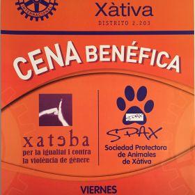 29 DE MARZO CENA BENEFICA ROTARY CLUB XATIVA