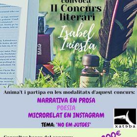 """II Concurso literario: """"Isabel Iniesta"""""""